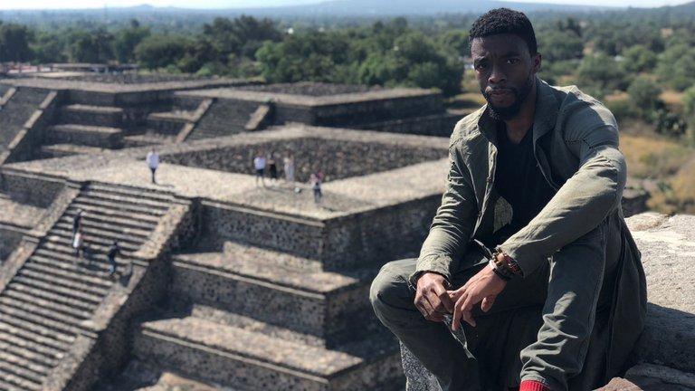 Boseman στο Teotihuacán (Φωτογραφία Instagram)