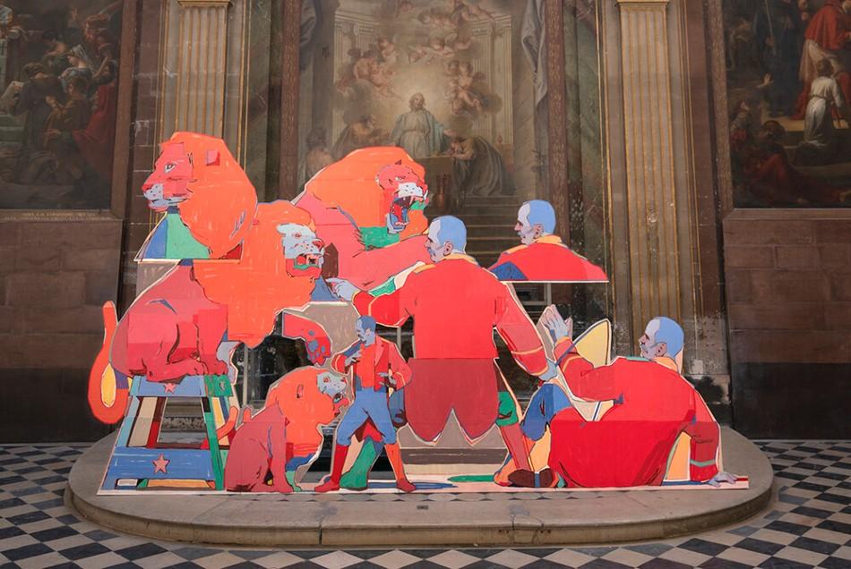 Aryz: hacer del graffiti un espectáculo de museo. FOTO: Aryz.com
