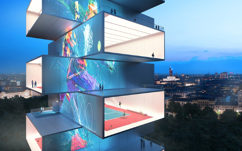 Tennis Tower, the paradise for tennis players created by Carlo Ratti Associati. PHOTO: World Architecture