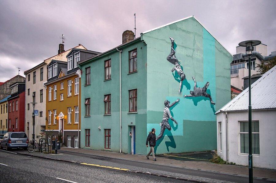 A falak Anders Gjennestad művészetével elevenednek meg. FOTÓ: andersgjennestad.com