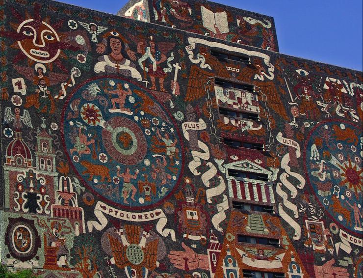 Edifício da Biblioteca Central da Universidade Nacional Autônoma do México (UNAM)