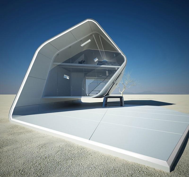 California Roll House, fremtiden for sammenleggbar arkitektur. FOTO: HomeDSGN