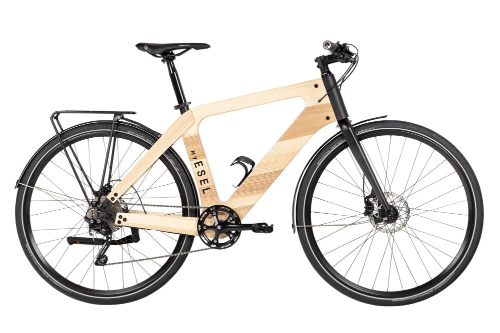 Etree Bike, un modelo único fabricado en madera de fresno. FOTO: trendhunter.com