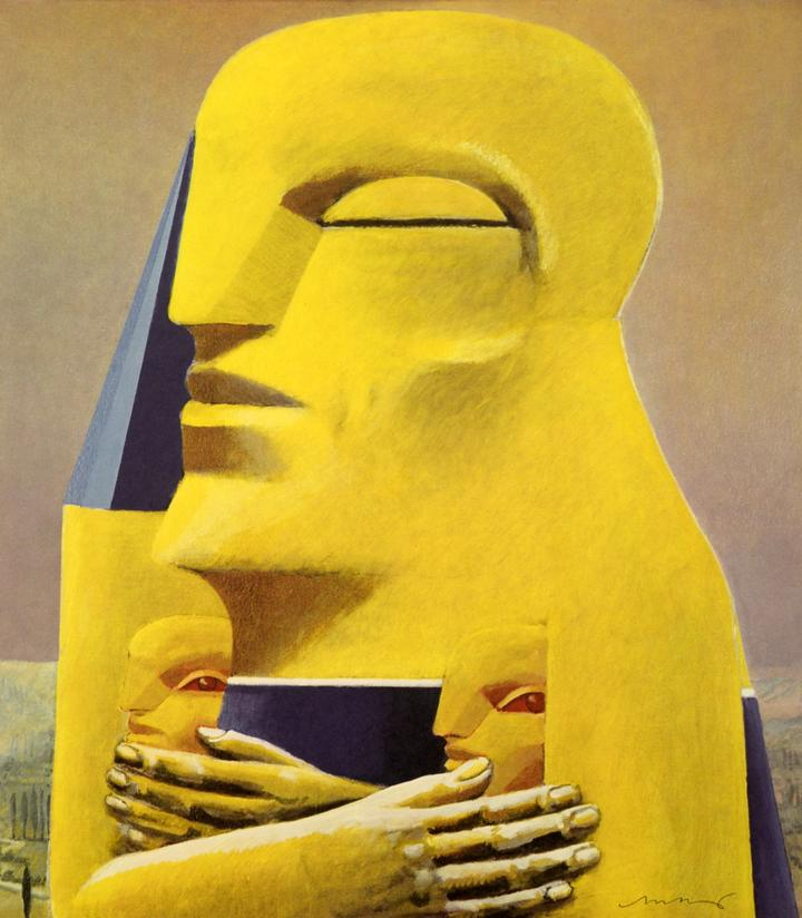 Pintura de Horst Antes. FOTO: Galería Edward Kurstak
