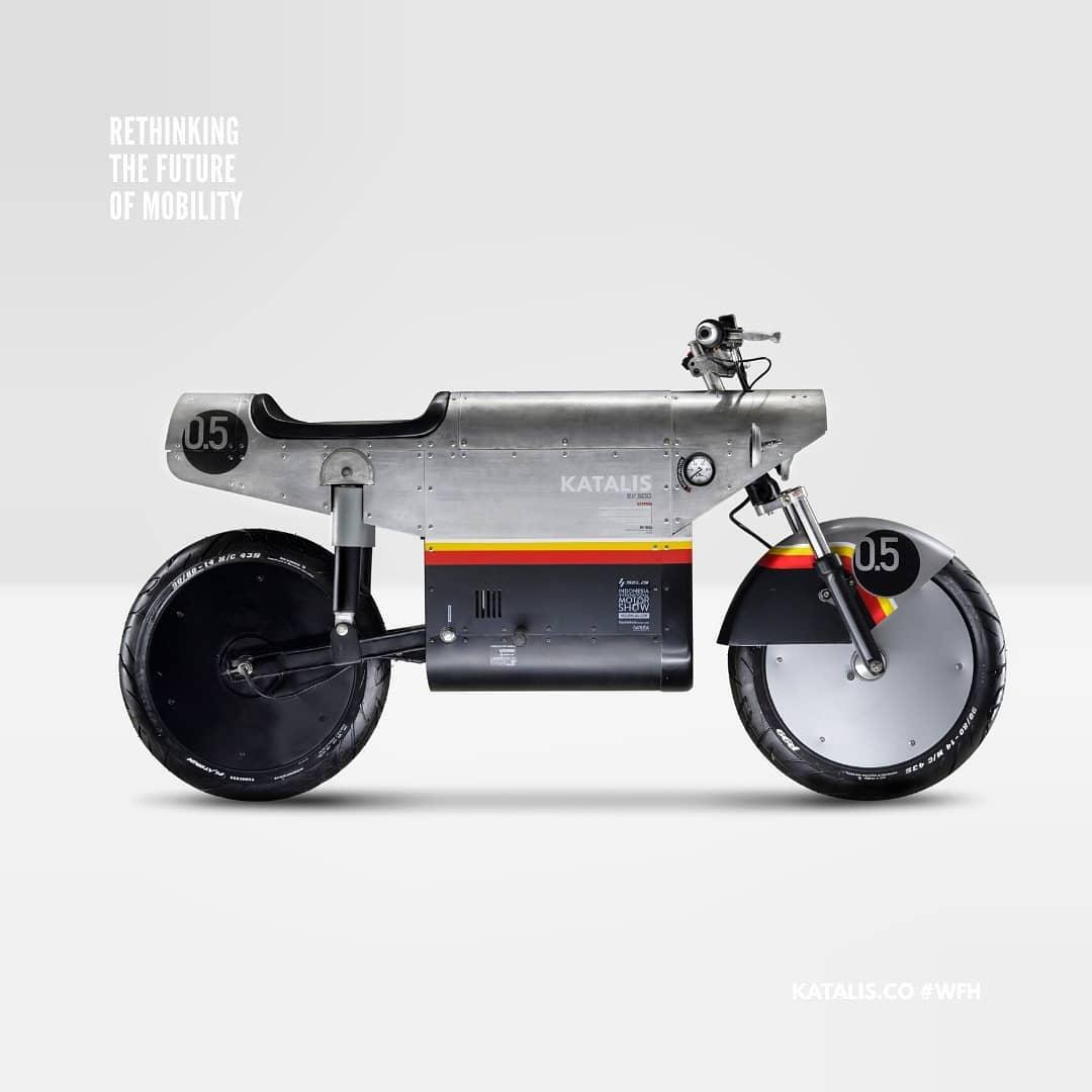 Katalis EV. 500, a bicicleta elétrica inspirada na Segunda Guerra Mundial. FOTO: katalis.co