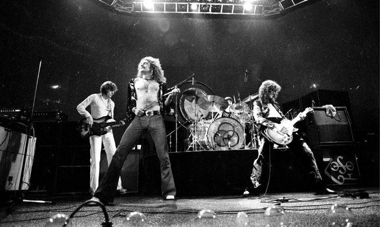 A Led Zeppelin 1980-ban szakított John Bonham dobos halálát követően. Forrás: Led Zeppelin.