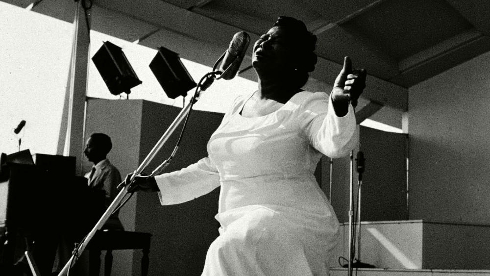 Mahalia cantó frente a los presidentes John F. Kennedy y Eisenhower. FOTO: Getty Images