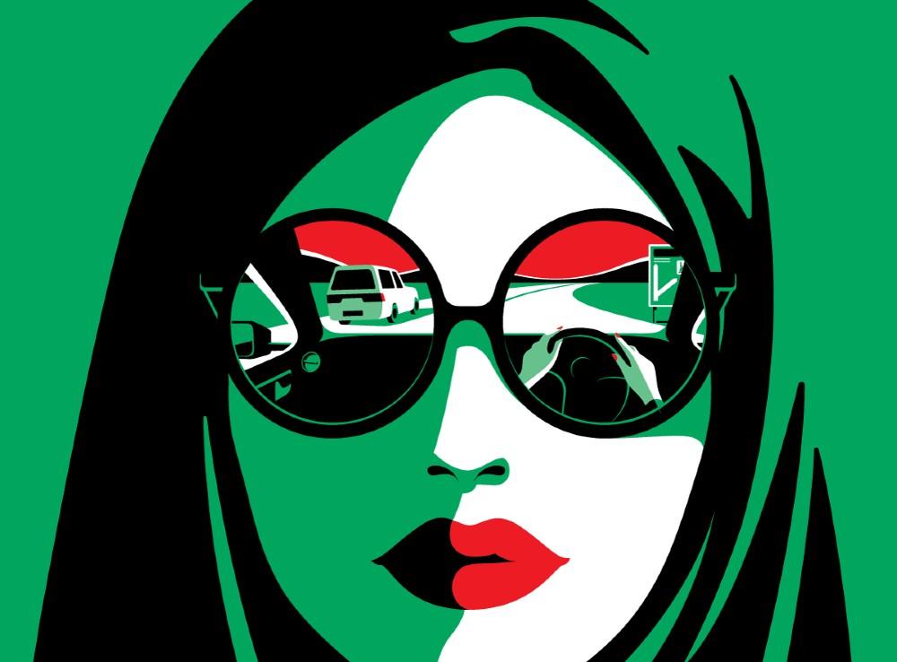 Malika Favre, illustrasie met popkuns-aanrakinge. FOTO: malikafavre.com