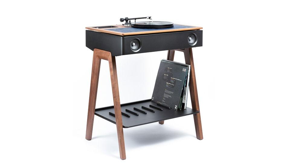 LX Turntable es una concepto doble de bocinas y tocadiscos que ofrece la marca Laboite