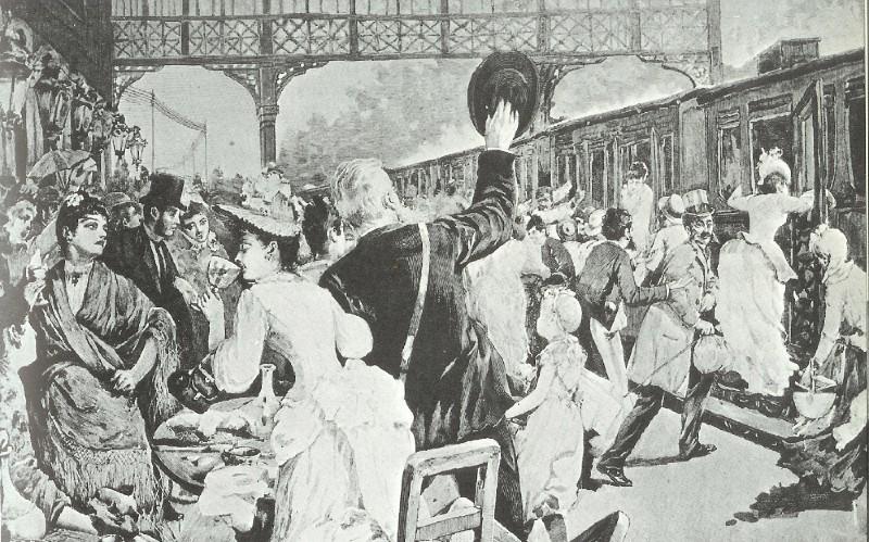 Damemote i industrialderen på XNUMX-tallet. FOTO: Wikimedia Commons