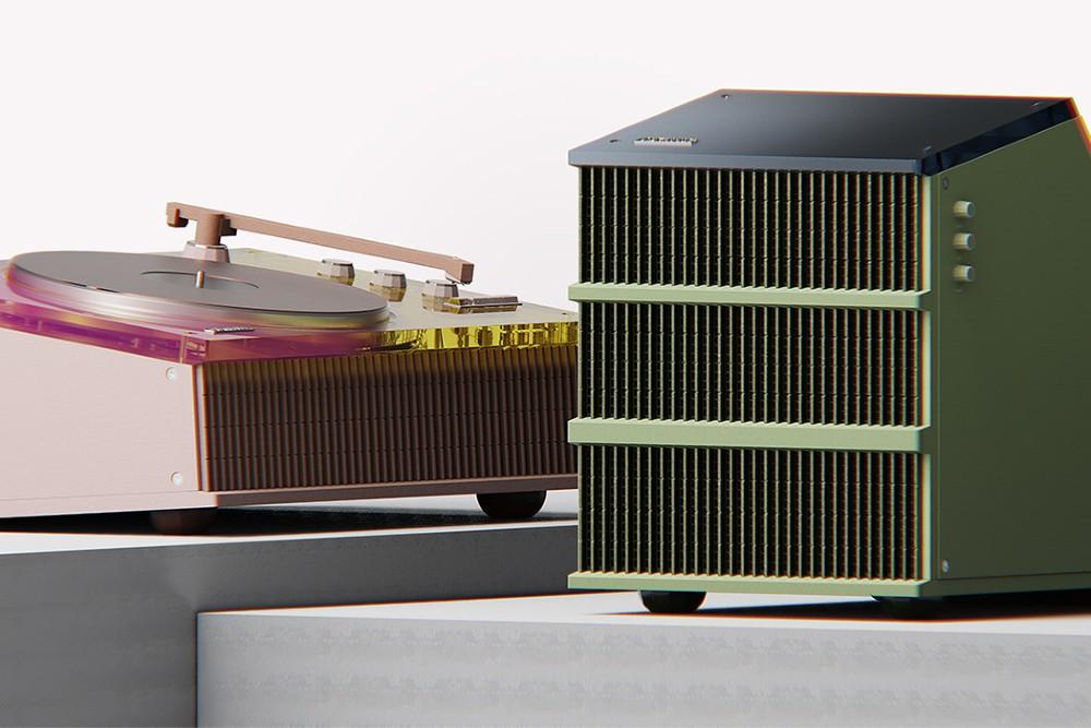 Musikk og arkitektur kommer sammen i Old Future Turntable. FOTO: Pinterest