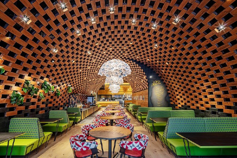 Nando's Peckham: Wenner van die Restaurant & Bar Design Awards 2020. FOTO: restaurantandbardesignawards.com