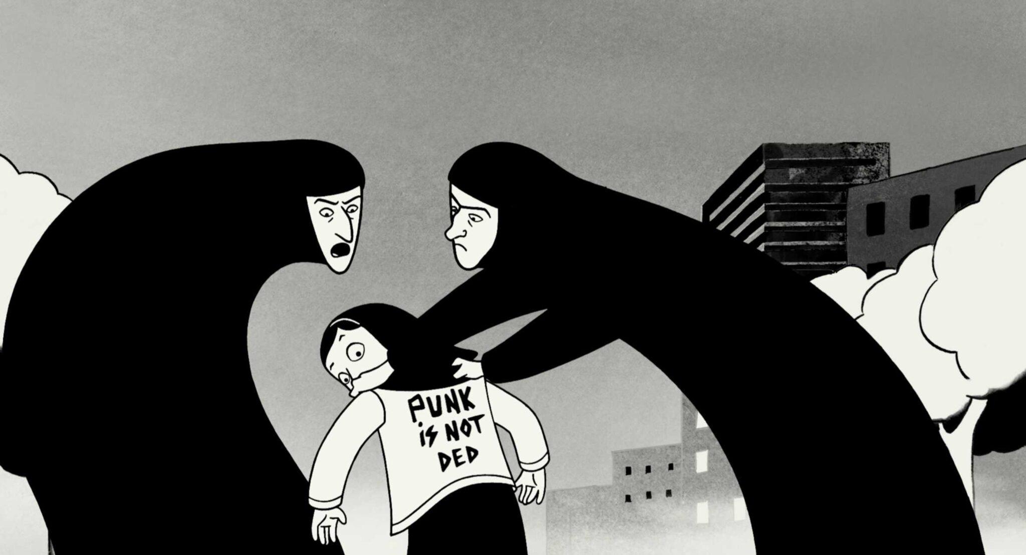 """Még mindig a """"Persepolis"""" filmből, amelyet Marjane Satrapi író homonim grafikai regénye ihletett. FOTÓ: Staff Fahrenheit"""