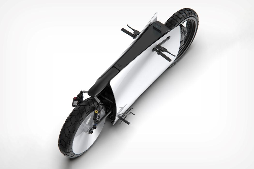 Mantente en línea con esta bicicleta inspirada en el Play Station 5. FOTO: yankodesign.com