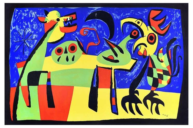 Le Chien Aboyant à la Lune, 1952. Fuente: Fundación Joan Miró.