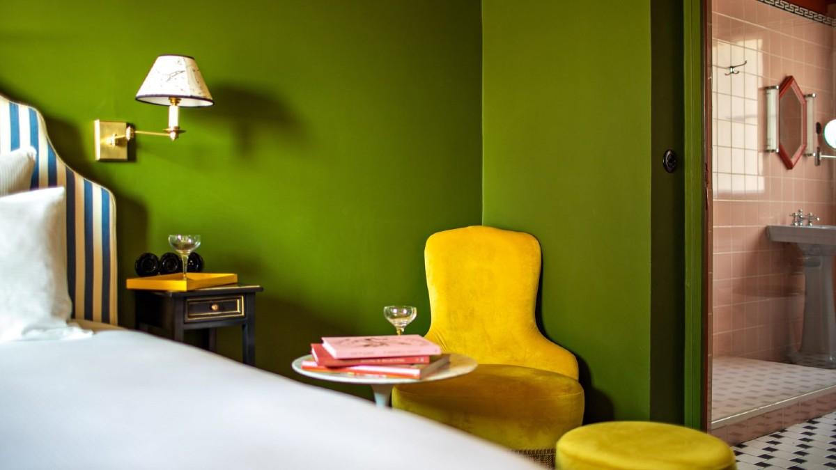 Dette prosjektet er det første store prosjektet som Edward Hall har gjennomført siden han åpnet designstudioet i 2015. FOTO: Hotel Les Deux Gares