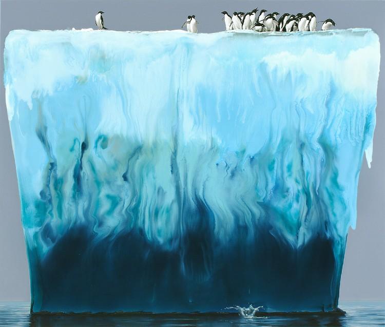 Alexis Rockman es un artista neoyorkino que realiza pinturas monumentales sobre el futuro incierto de la vida humana y animal en la Tierra