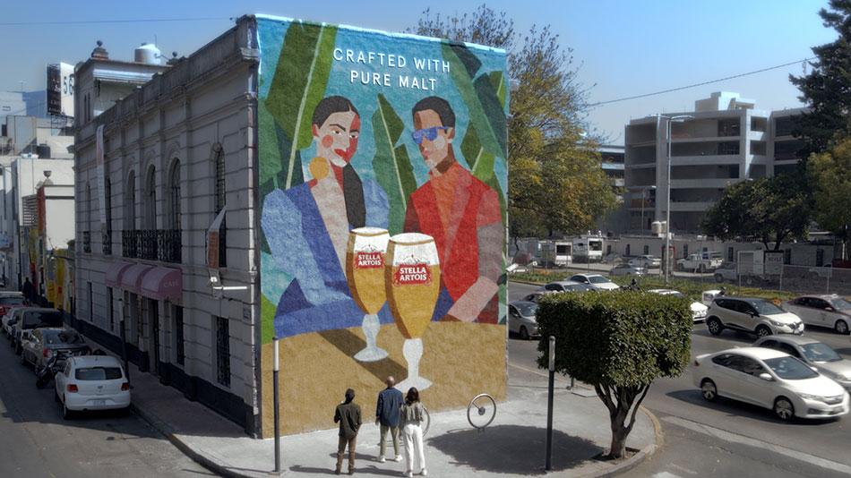 Stella Artois y el reconocido artista mexicano, Óscar Torres, se unieron para crear una obra maestra.