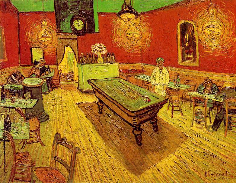 """""""El café de noche"""", Vicent Van Gogh"""