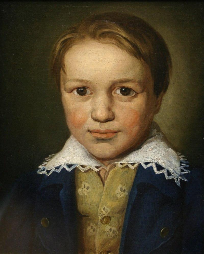 Retrato de Beethoven cuando tenía trece años