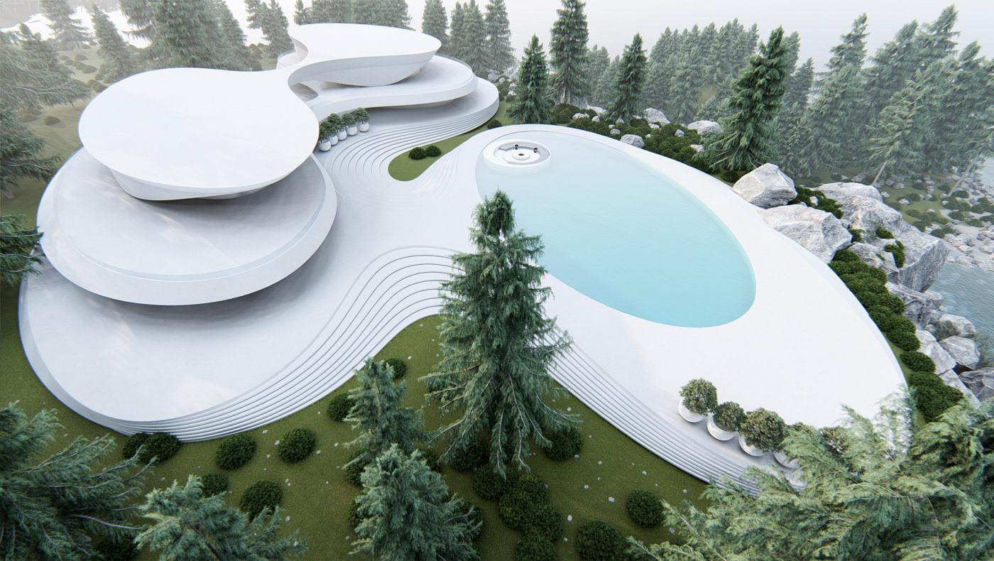 Vanguardia y modernismo fluyen en ambientes naturales