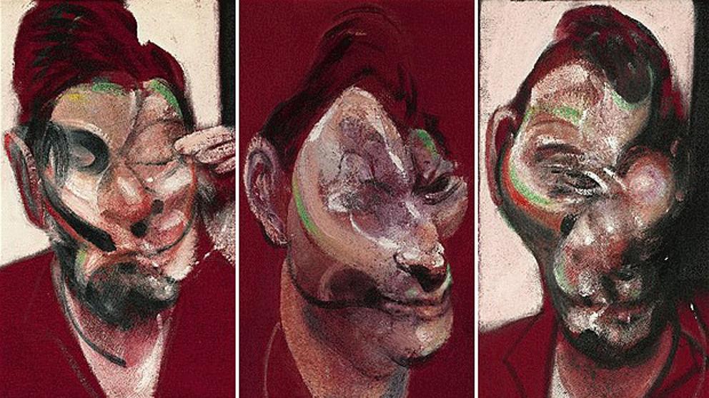 Tres estudios de Lucian Freud (1969)