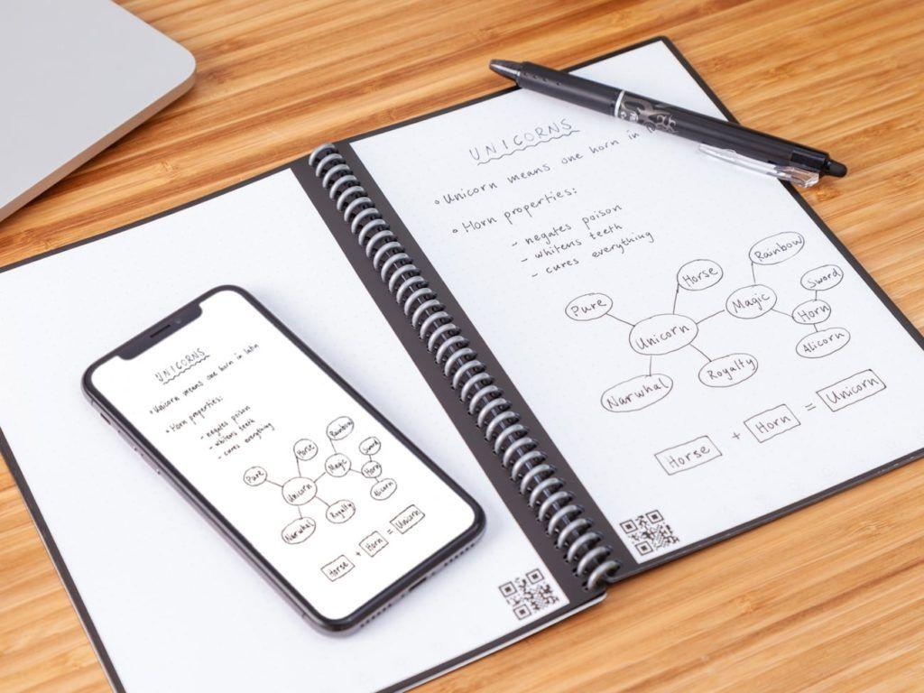 Rocketbook intelligens újrahasznosítható notebook és toll