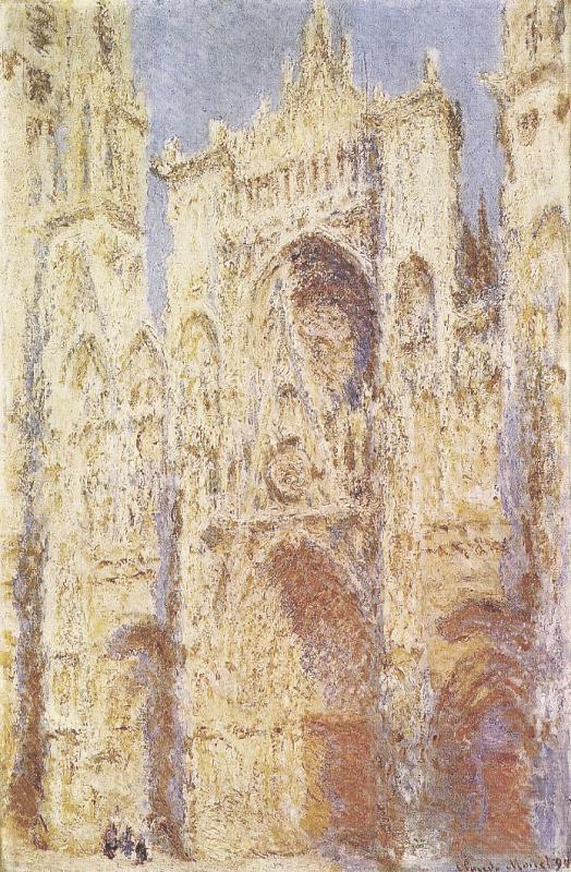 Los cuadros de esta serie captan el exterior de la catedral en horas del día y condiciones atmosféricas distintas