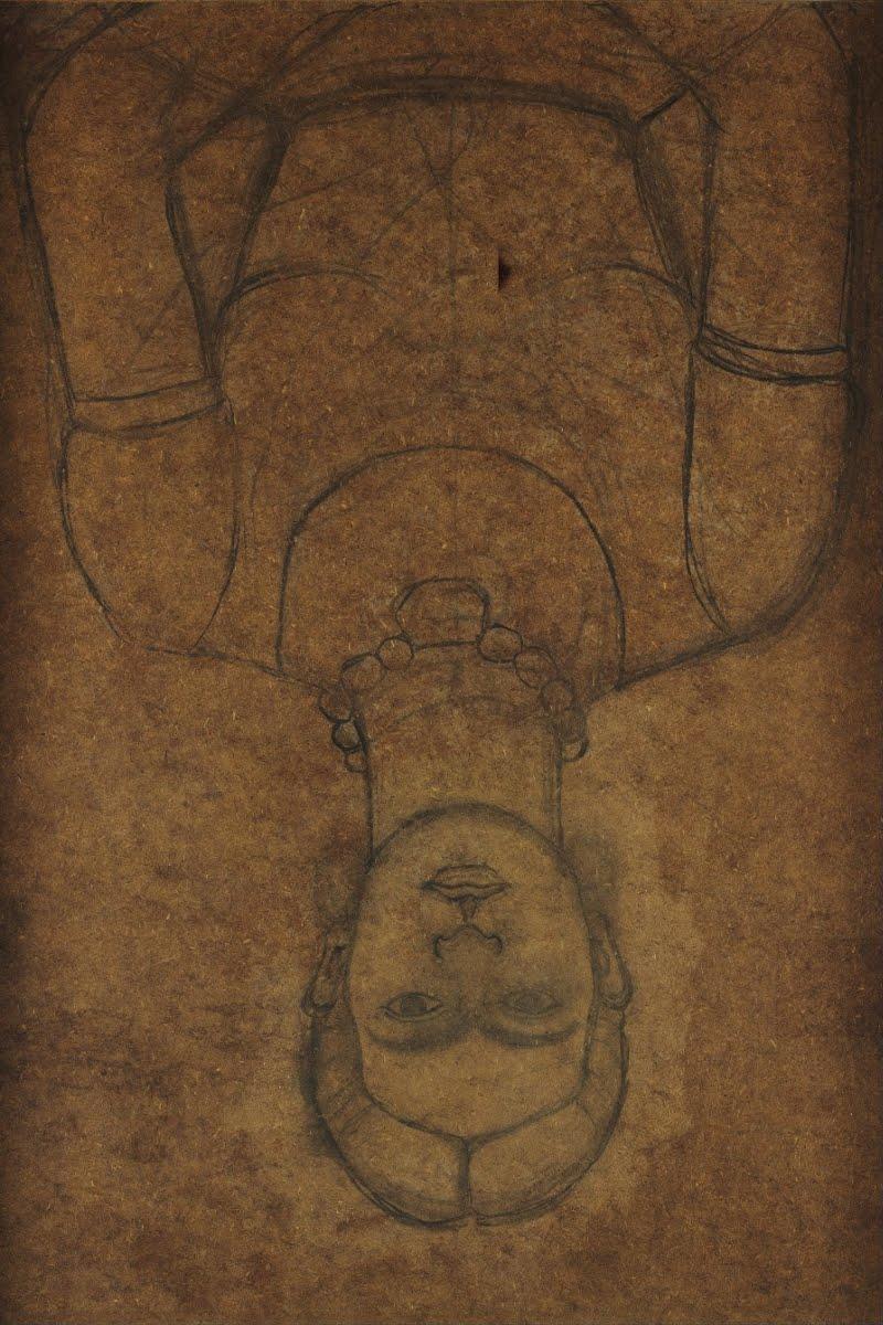 Boceto para autorretrato con aeroplano