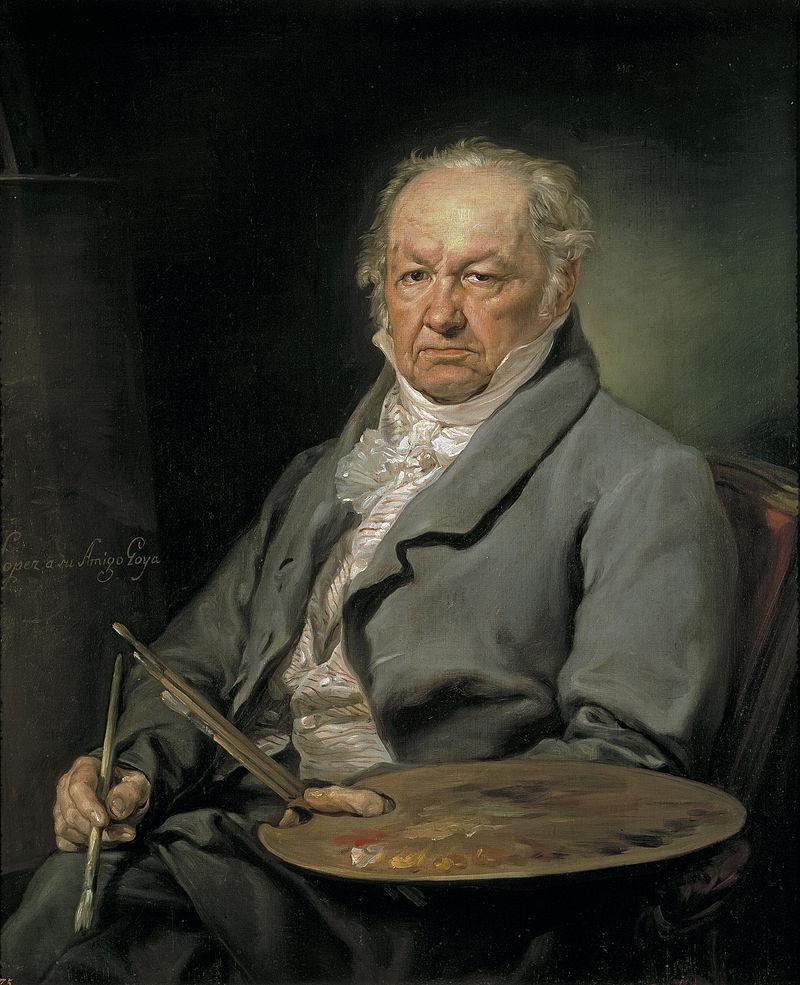 Retrato del pintor Francisco de Goya (1826), por Vicente López, Museo del Prado, Madrid.