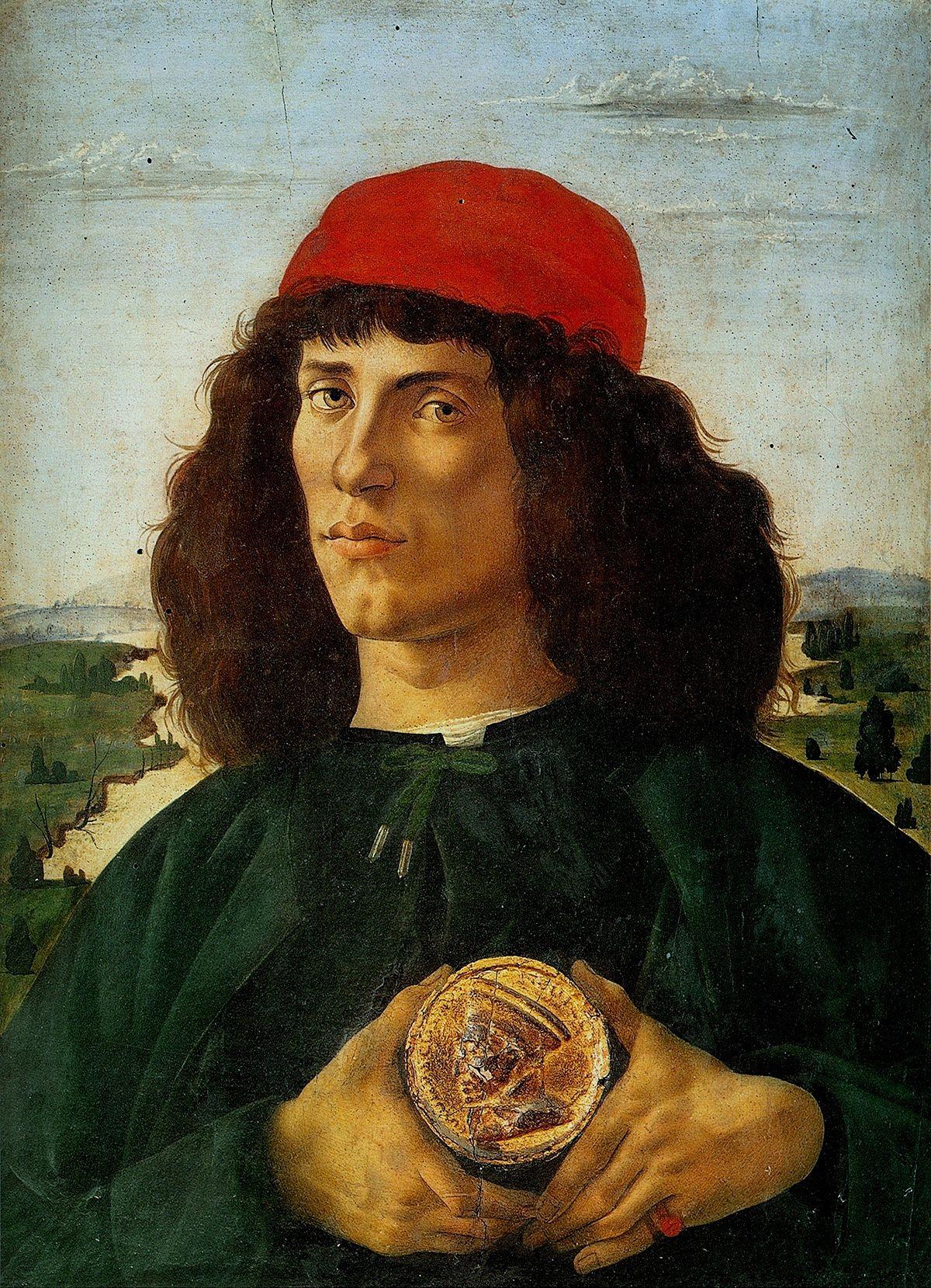 Retrato de hombre con la medalla de Cosme el Viejo (1474)