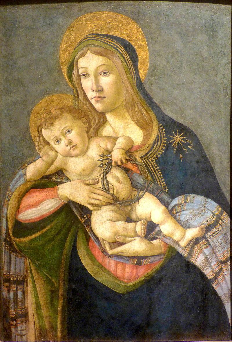 La Virgen y el Niño con la corona de espinas y tres clavos. 1477. Museo Soumaya, México