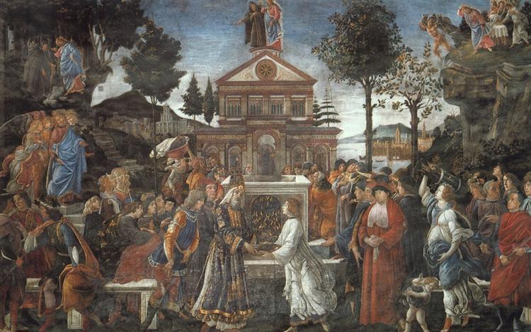 La Tentación de Cristo (1481-1482)