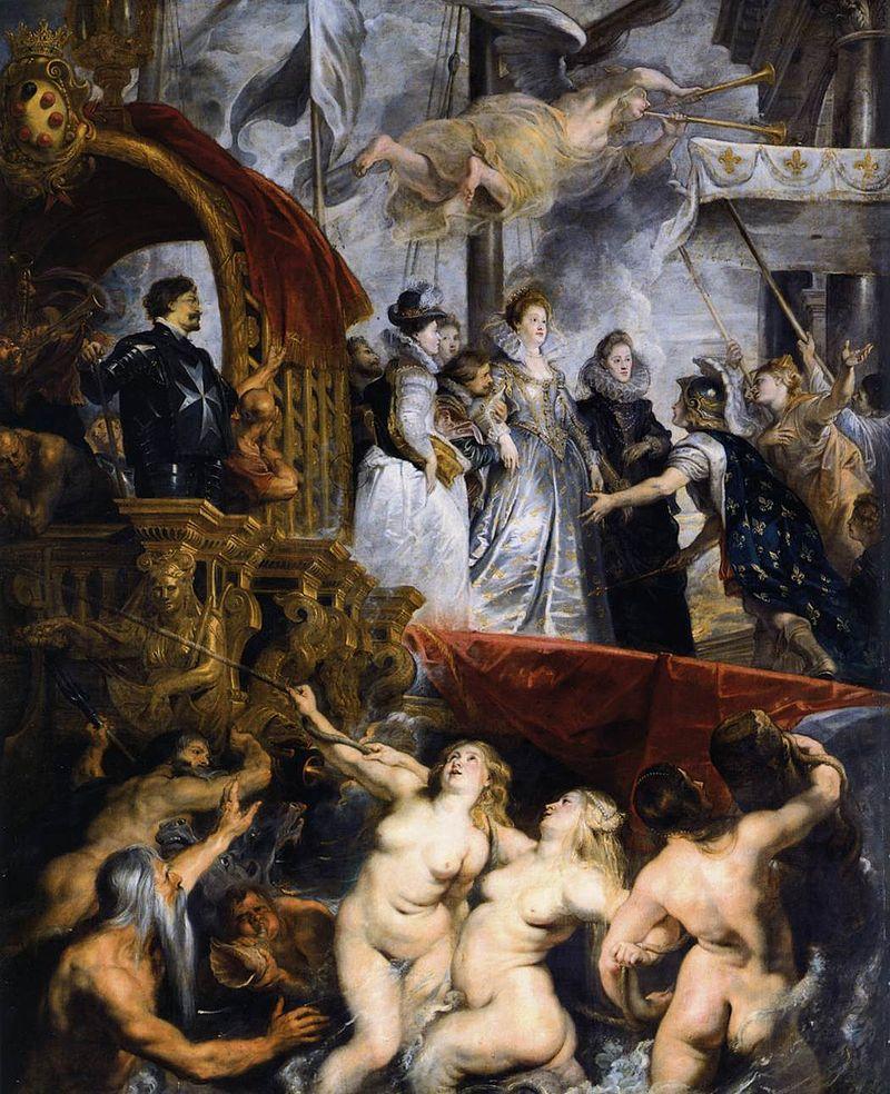 El desembarco de María de Médicis en el puerto de Marsella,Museo del Louvre,París