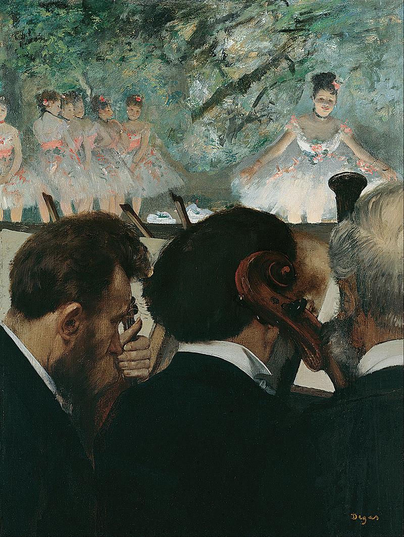 Músicos en la orquesta, 1872.Instituto Städel,Frankfurt del Meno