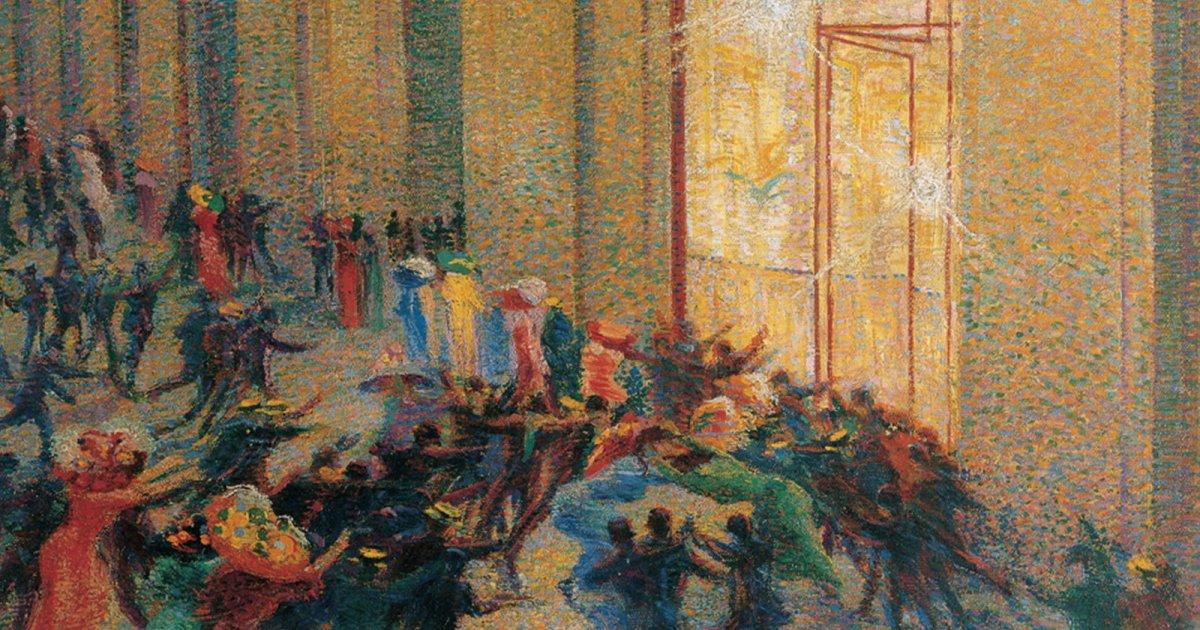 Tumulto en la galería (1910)