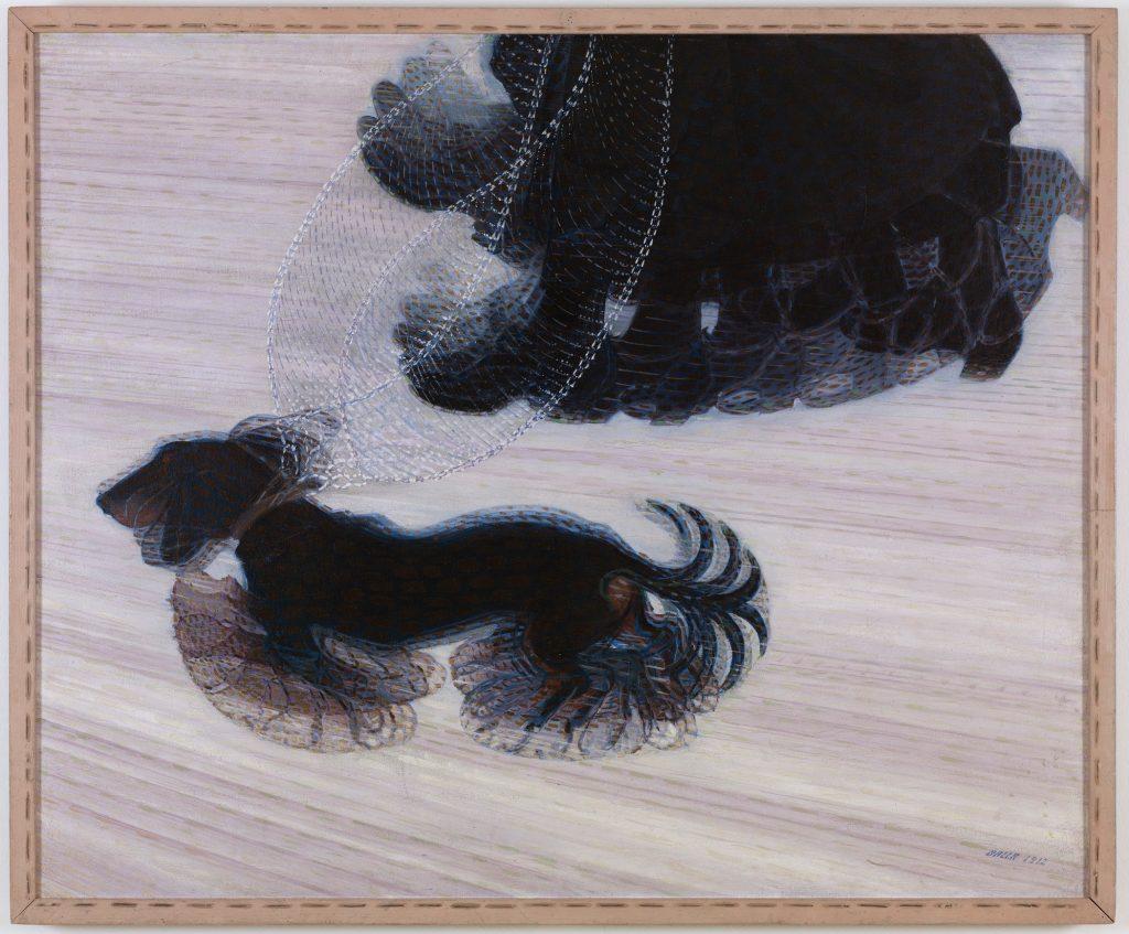 Dinamismo de perro con correa (1911)
