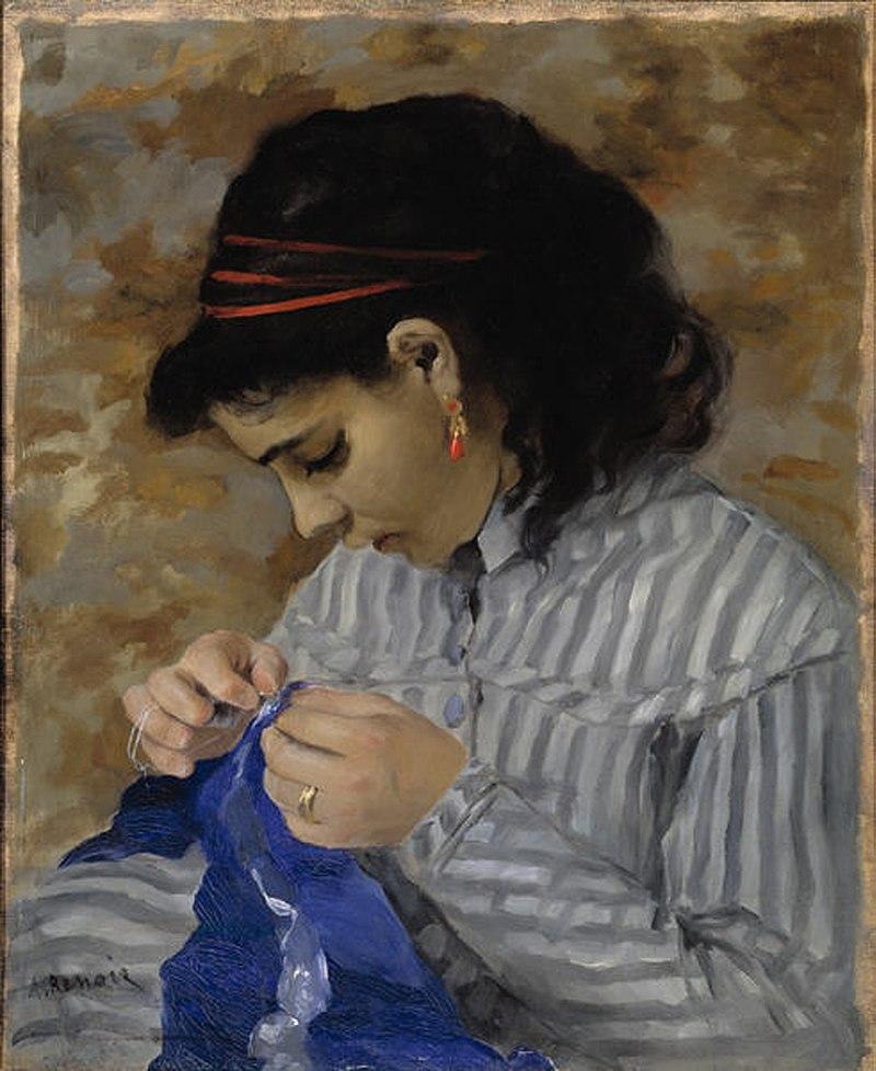 Lise cosiendo (1866), Museo de Arte de Dallas