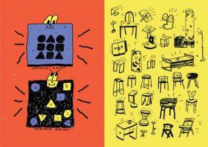 Ilustraciones de Foto: Aga Giecko inspiradas en Bauhaus