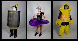 Vestuarios Bauhaus de los estudiantes de la Universidad Gestalt de Diseño en Veracruz