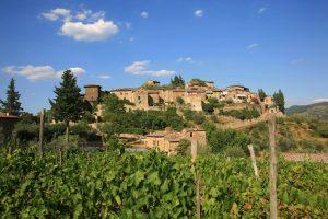 Montefioralle en la Toscana