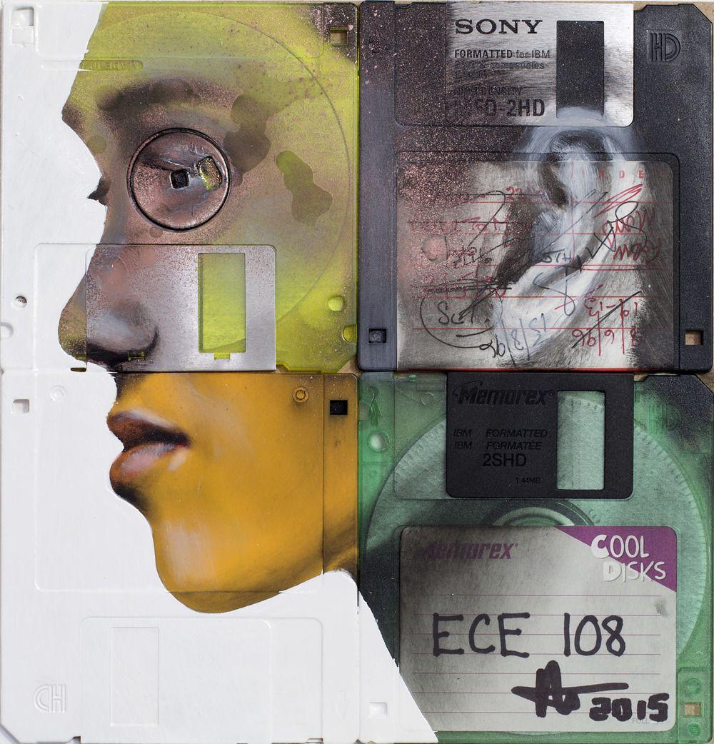 Λάδι σε χρησιμοποιημένους δίσκους υπολογιστή_02.