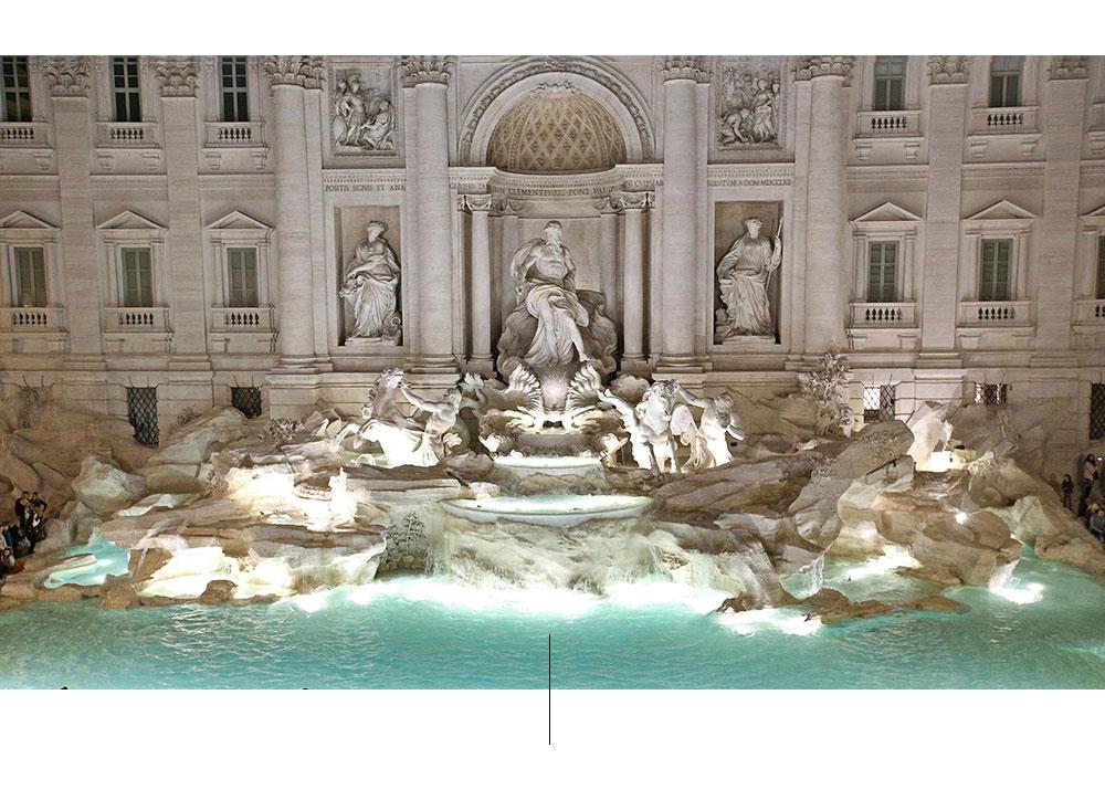 Μπαρόκ μνημειακή κρήνη στη Ρώμη.