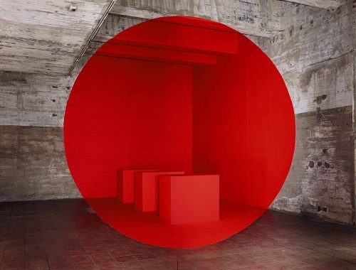 Stanza con cerchio rosso.