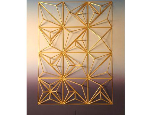 कलाकार मैथ्यू शीलियन द्वारा बनाई गई सोने की मूर्तियां
