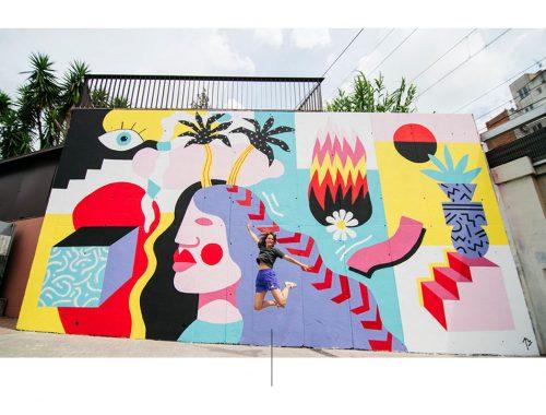 Veggmaleri av kunstneren Perrine Honoré.