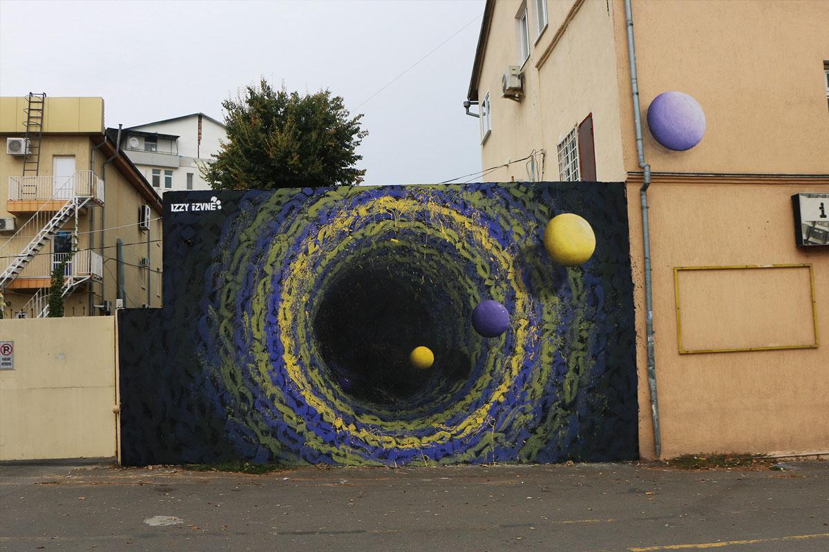 圆线和黄色和蓝色球形的图像。