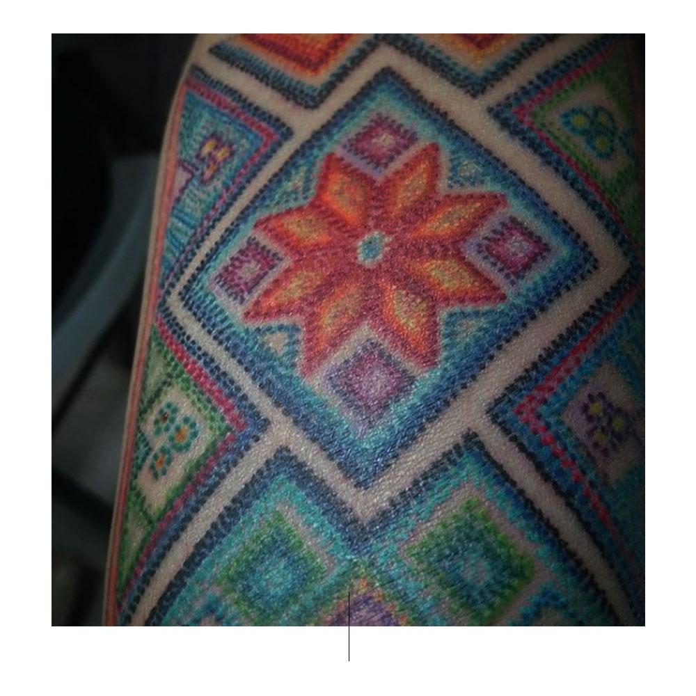 Comparte tu arte: textiles indígenas en los tatuajes de Root Winchester