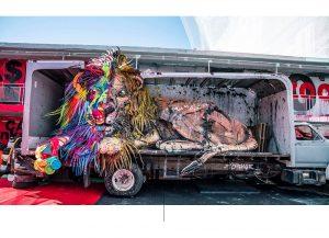 Animales hechos de basura en este zoológico de Las Vegas