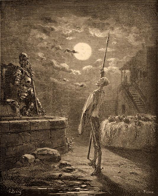 Το Quixote απεικονίζεται από τον Gustave Doré
